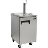 "Kegco 24"" Wide Cold Brew Coffee Single Tap All Stainless Steel Commercial Kegerator (ICXCK-1S-1)"