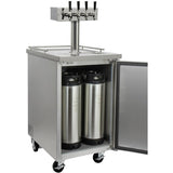 "Kegco 24"" Wide Kombucha Four Tap All Stainless Steel Commercial Kegerator (KOMC1S-4)"