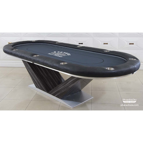 Pharaoh USA Luxor Texas Hold'Em Poker Table - Night Sky Silkwood Black & Blue (LUXHP-D-SWBB)