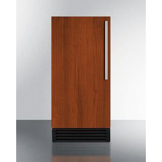 "Summit Appliance 15"" Wide 50 lb. Mahogany Finish with Handle Icemaker (BIM44GIF)"