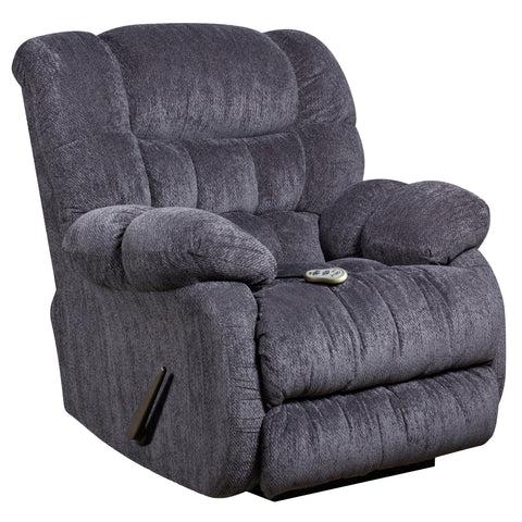 Columbia Indigo Blue Massaging  Microfiber Rocker Recliner with Heat Control (AM-H9460-5861-GG)