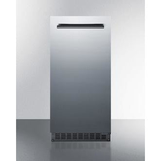 "Summit Appliance 15"" Wide/ 34"" Tall 62 lb. Outdoor/Indoor Icemaker (BIM68OSGDR)"