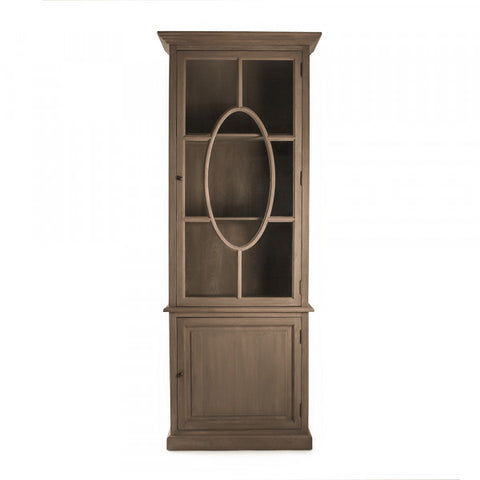 Zentique Florence Oak China Cabinet (T319 E255-3)