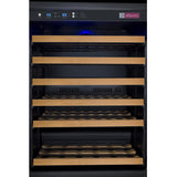 "Allavino 47"" Wide FlexCount II Tru-Vino 112 Bottle Dual Zone Black Side-by-Side Wine Refrigerator (2X-VSWR56-1B20)"