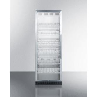 "Summit Appliance 70"" Tall Glass & Stainless Steel Beverage Center (SCR1401LH)"