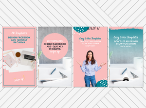 Pink Brush | 20 Canva Templates