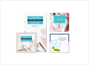 Pink Teal Instagram Templates for Canva