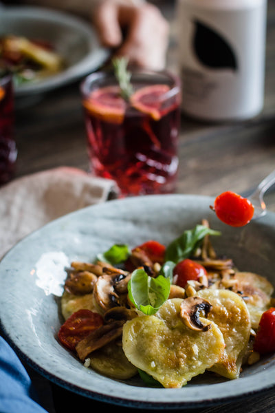 Valentine's Day recipe - Ravioli with pesto