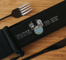 Load image into Gallery viewer, Full Black Travel Cutlery Set - Chonnyday