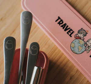 Pink Travel Cutlery Set - Chonnyday