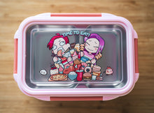 Load image into Gallery viewer, Time to Eat Lunch box (PINK) - Chonnyday