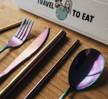 Load image into Gallery viewer, Rainbow Travel Cutlery Set - Chonnyday