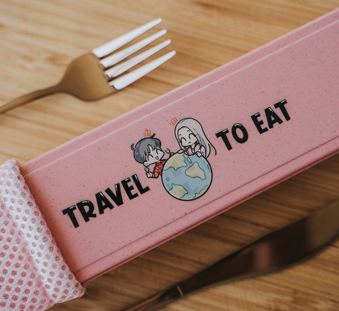 Rose Gold Travel Cutlery Set - Chonnyday