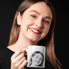 Load image into Gallery viewer, Personalized Sketch Mug - White