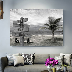Beautiful Ocean View Multi-Names Premium Canvas