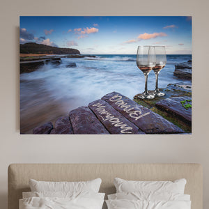 Cheers Love Couple-Names Premium Canvas