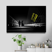 Load image into Gallery viewer, Black Neon Multi-Names Premium Canvas