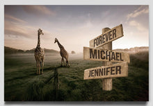 Load image into Gallery viewer, Giraffe Multi-Names Premium Canvas