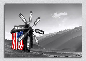 Windmill Multi-Names Premium Canvas