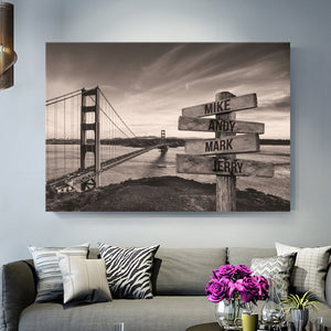 Golden Bridge Premium Multi-Names Canvas