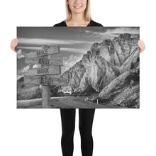 Load image into Gallery viewer, Mountain Ranges Multi-Names Premium Canvas