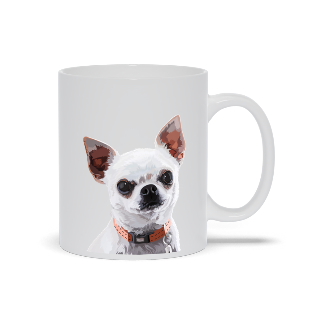 Personalized Pet White Mug - Graphic Photo