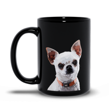Load image into Gallery viewer, Personalized Pet Black Mug - Graphic Photo
