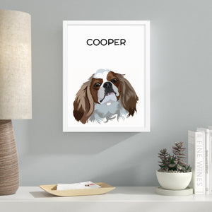 Pet Photo Frame - White Background
