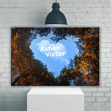 Load image into Gallery viewer, Cloudy Heart Couple-Names Premium Canvas