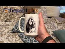 Load and play video in Gallery viewer, Personalized Sketch Mug - White