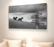 Load image into Gallery viewer, Horses Multi-Names Premium Canvas