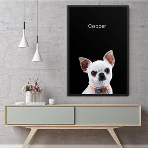 Pet Photo Frame - Black Background
