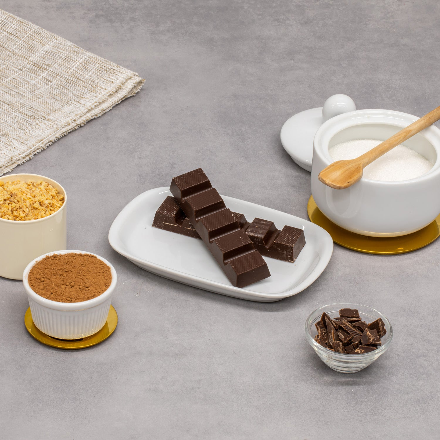 Tablete de Chocolate Negro com Biscoito