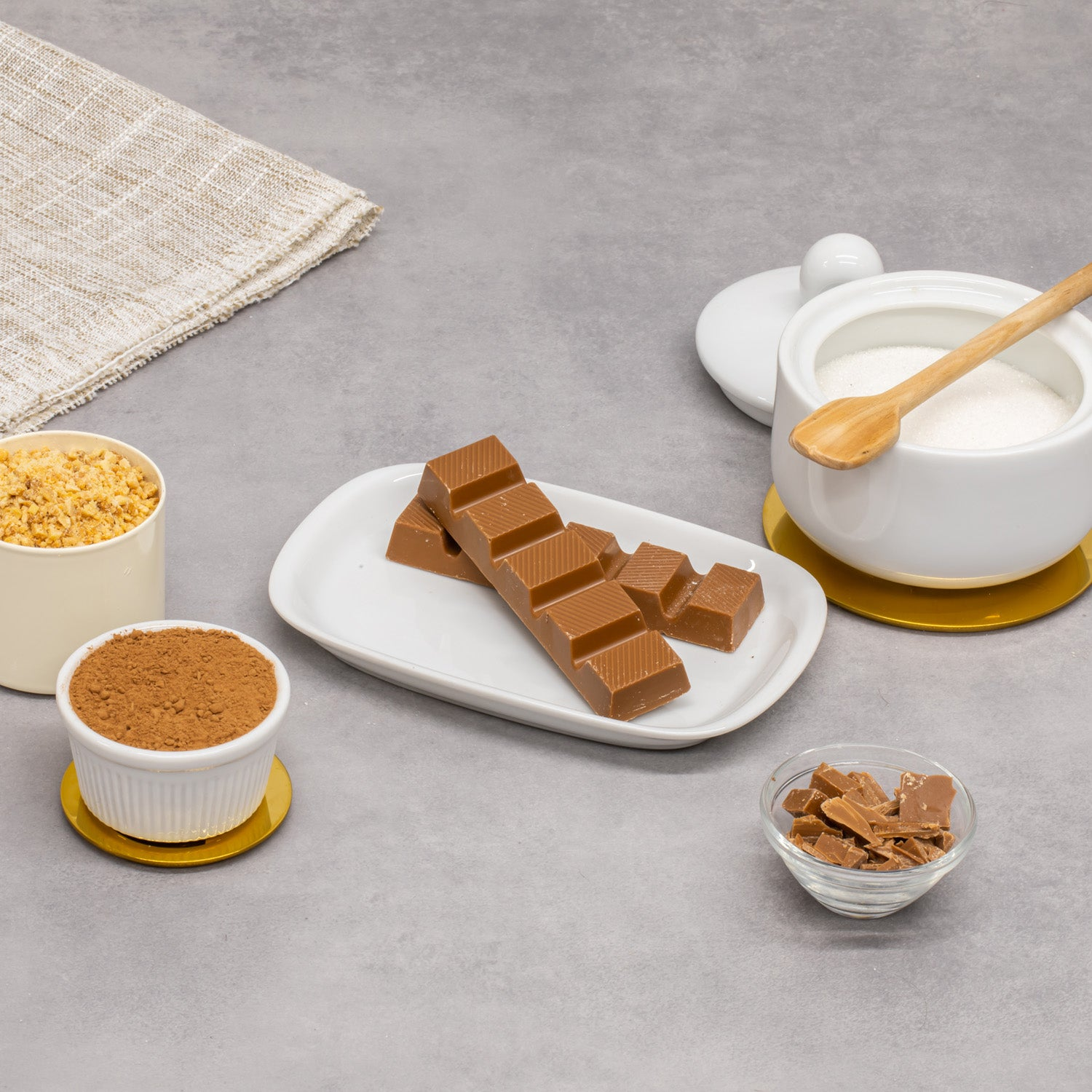 Tablete de Chocolate de Leite com Biscoito