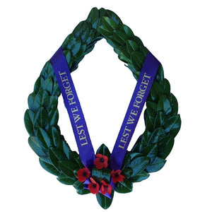 Laurel Wreath with Poppies
