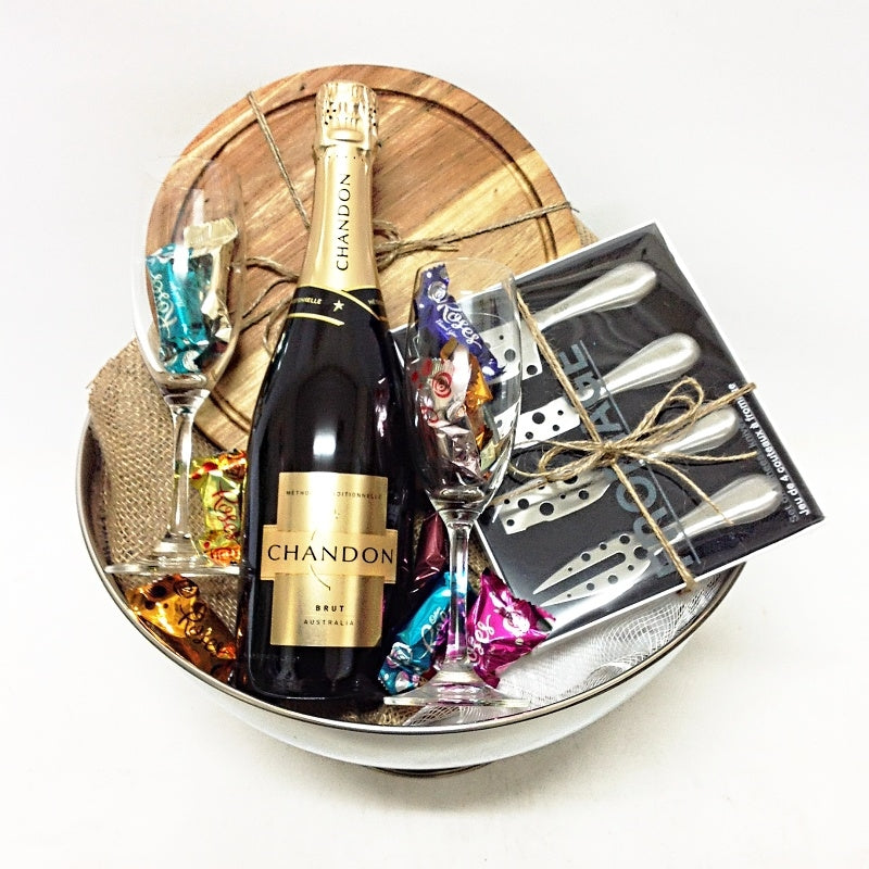 Champagne, chocolates and cheese accessories