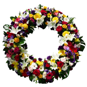 Mixed Bright Open Wreath