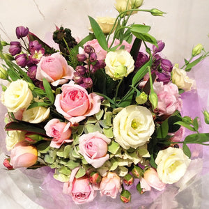 Lisianthus and Rose Posy