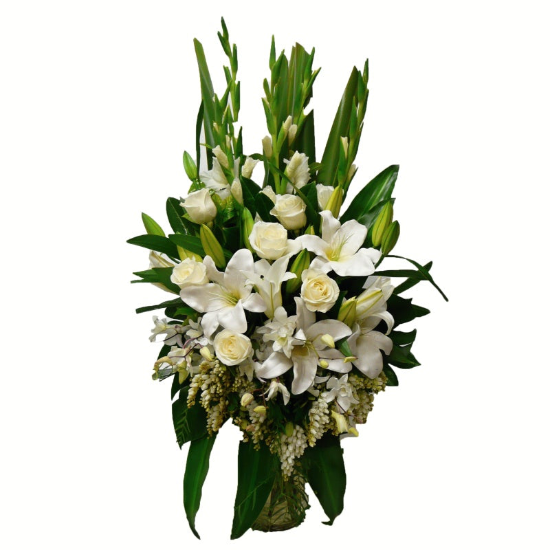 Modern White Vase Arrangement