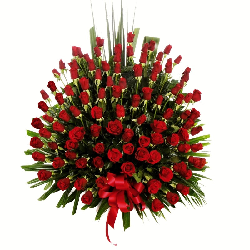 Red Rose Bowl Arrangement