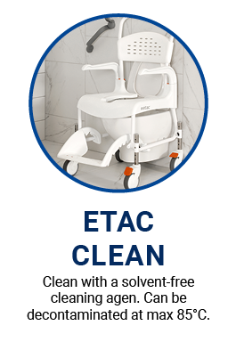 Etac Clean Shower Commode makes infection control easier