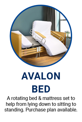 Avalon Rotating Bed for more support for your recovery at home