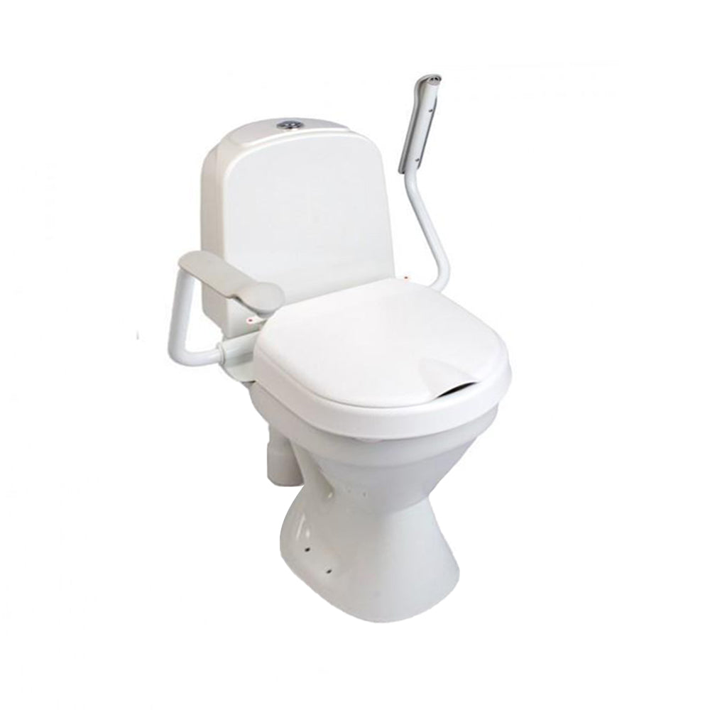 Hi-Loo Toilet Seat Raiser, Fixed with Armrests