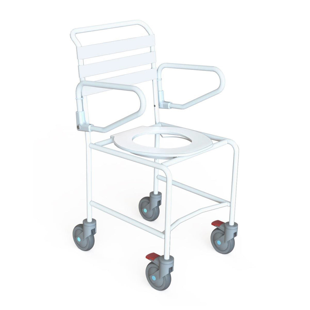 Mobile Shower Commode Economy - Push Chair - Attendant Propelled