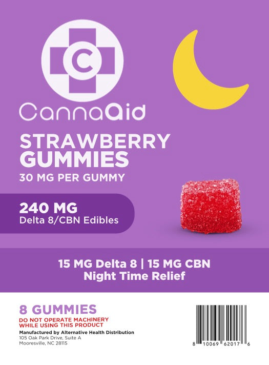CannaAid 240mg CBN+ Delta 8 Gummies