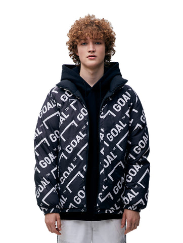 REVERSIBLE DOWN JACKET - BLACK/GRAY