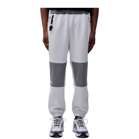 NYLON METAL MIXED TRACK PANTS - WHITE