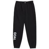 FLOCKING KNIT JOGGER PANTS - BLACK