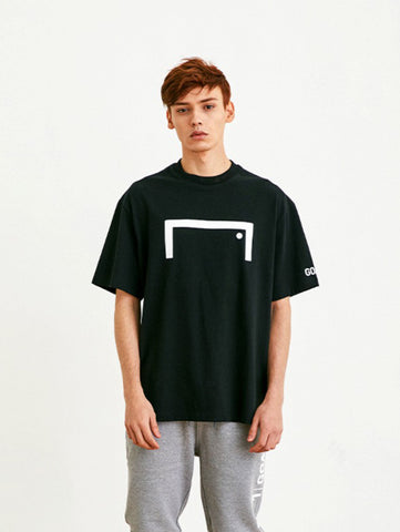 FRONT BIG LOGO TEE (LOOSE FIT) - BLACK