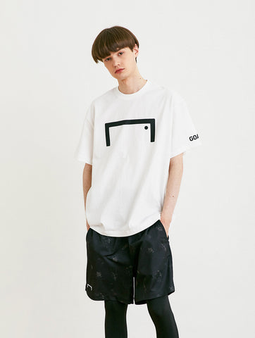 FRONT BIG LOGO TEE (LOOSE FIT) - WHITE